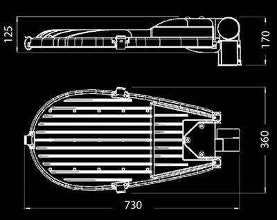 Stratos P dimensions
